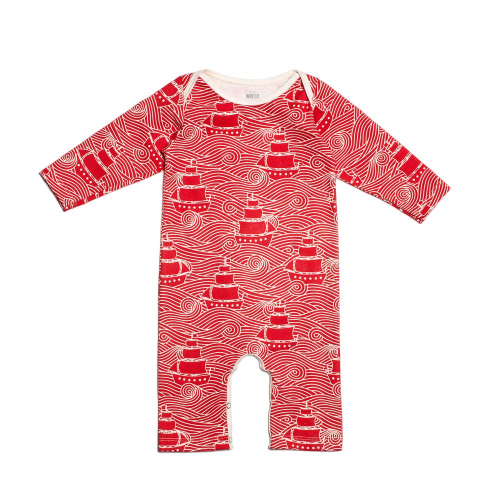 Babystrampler-Rot