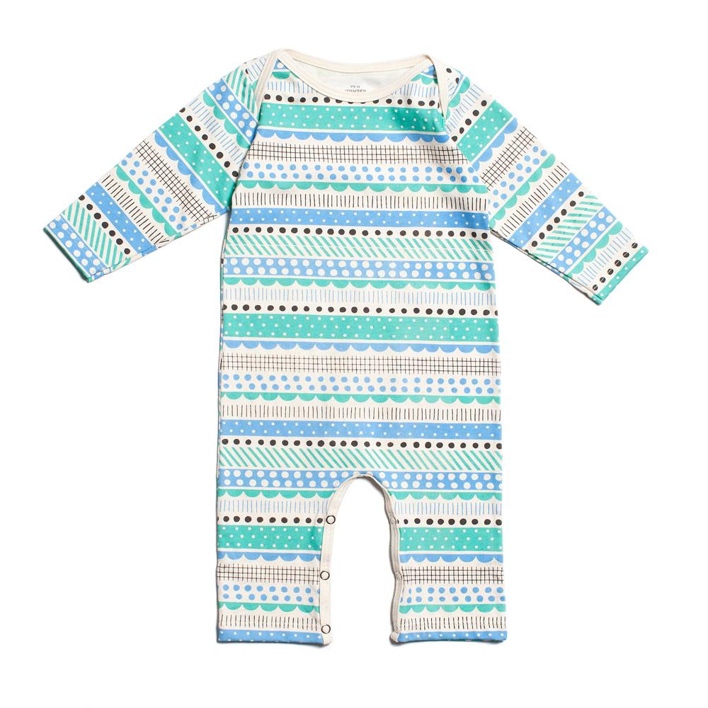 Babystrampler-Streifen
